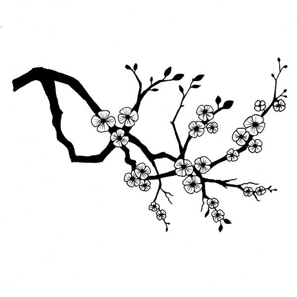 Lavinia Stamps -  Cherry Blossom Branch