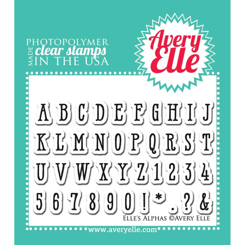 "Avery Elle Clear Stamp Set 2""X3"" - Elle's Alphas"