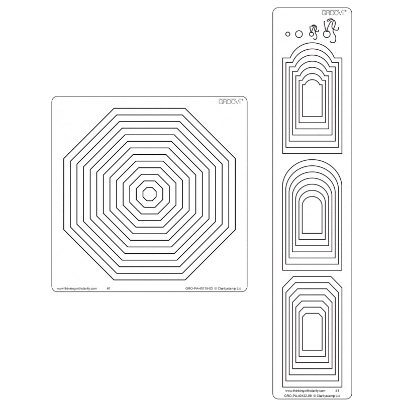 Clarity Stamp - Nested Octagon & Tags Groovi Plate Set