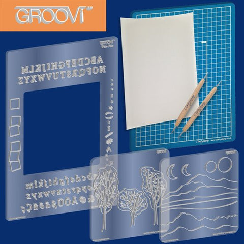 Clarity Stamp - Groovi Plate Starter Kit
