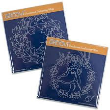 ***New Item*** Clarity Stamp - Oak Deer & Ivy Wreath Groovi Plate Set