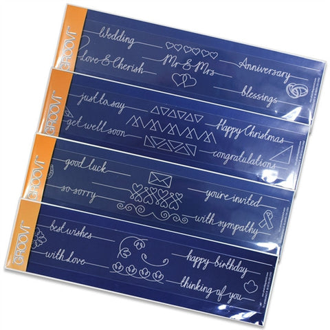 ***New Item*** Clarity Stamp - Line Sentiments Groovi Border Plates