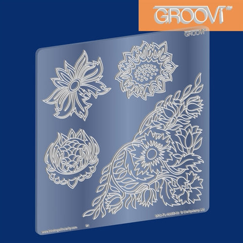 ***New Item*** Clarity Stamp - Wallflowers Groovi Plate A5 Square