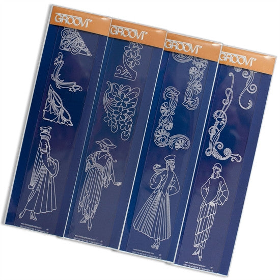 Clarity Stamp - Art Nouveau Groovi Border Collection