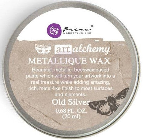 Prima Marketing - Finnabair Art Alchemy Metallique Wax - Old Silver