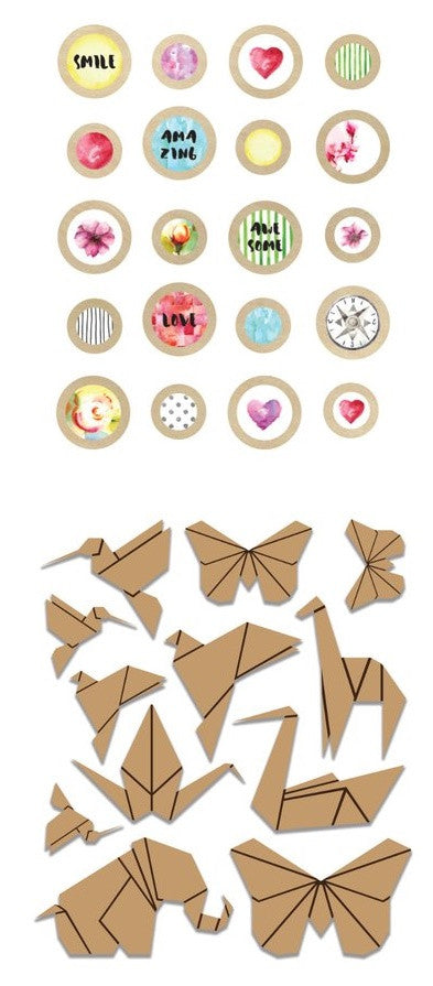 Altenew - Reflection Collection - Epoxy Buttons & Wood Veneer Bundle