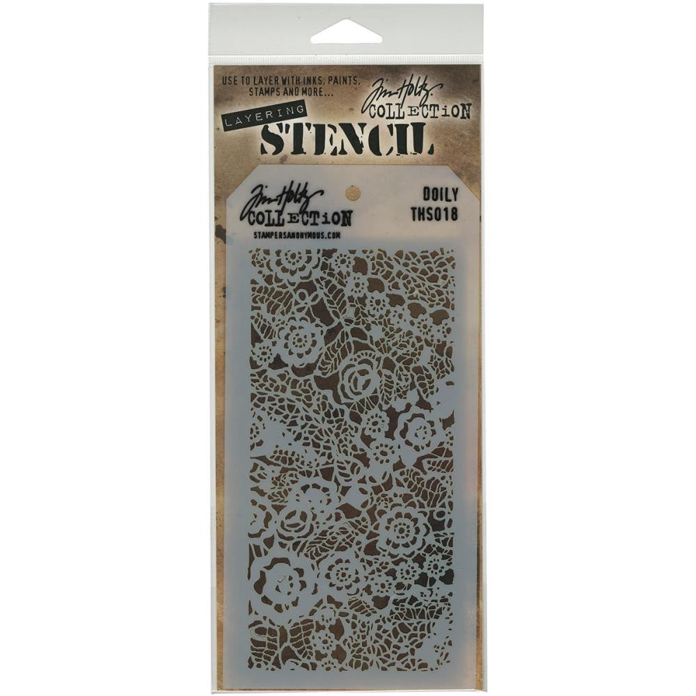 Stampers Anonymous - Tim Holtz - Layering Stencil - Doily