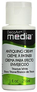 Deco Art Media Antiquing Cream 1oz - Titanium White