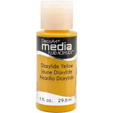 Deco Art Media Fluid Acrylic Paint 1oz - Dairylide Yellow