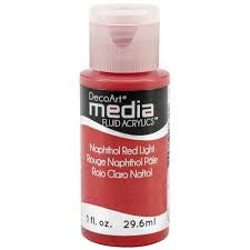 Deco Art Media Fluid Acrylic Paint 1oz - Napthol Red Light