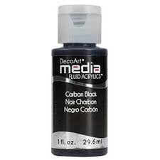 Deco Art Media Fluid Acrylic Paint 1oz - Carbon Black