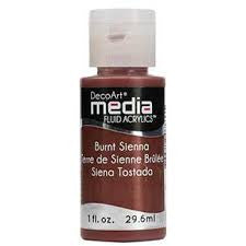 Deco Art Media Fluid Acrylic Paint 1oz - Burnt Sienna