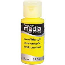 Deco Art Media Fluid Acrylic Paint 1oz - Hansa Yellow Light