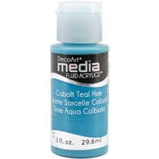 Deco Art Media Fluid Acrylic Paint 1oz - Cobalt Teal