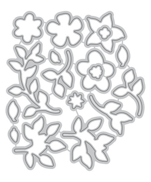 Altenew - Doodle Bloom Die Set (coordinates with Doodle Bloom Stamp Set)