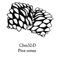 Clarity Stamp -  Clear Stamp Set -  Pine Cones (Unmounted)