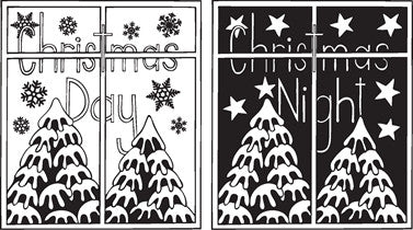 Clarity Stamp -  Clear Stamps - Christmas Day and Christmas Night  (Unmounted)
