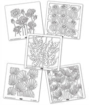 "Clarity Stamp - 7"" x 7""  Stencil - ""Flower Head Stencil Set (5 stencils)"""