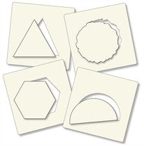 "Clarity Stamp - 7"" x 7""  Stencil - ""Framer Shapes Two Stencil Set (4 stencils)"""