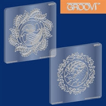 Clarity Stamp -  GROOVI A5 Plates - Christmas Dove & Deer