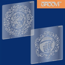 "Clarity Stamp -  GROOVI A5 Plates - ""Santa and Stockings"""