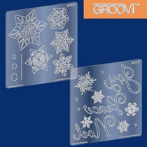 Clarity Stamp -  GROOVI A5 Plates - Snowflakes Christmas
