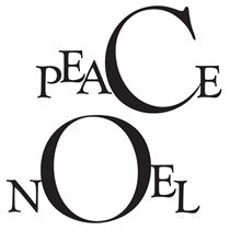 "Clarity Stamp -  Clear Stamp -  ""Peace"" & ""Noel"" Frames  Unmounted (Christmas)"