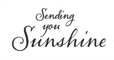 "Clarity Stamp -  Clear Stamp ""As Seen on TV"" - ""Sending you Sunshine"""