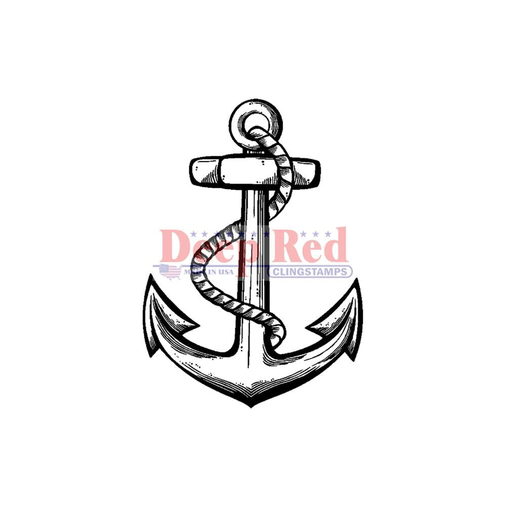 "Deep Red Cling Stamp 2""X2"" - Anchor"