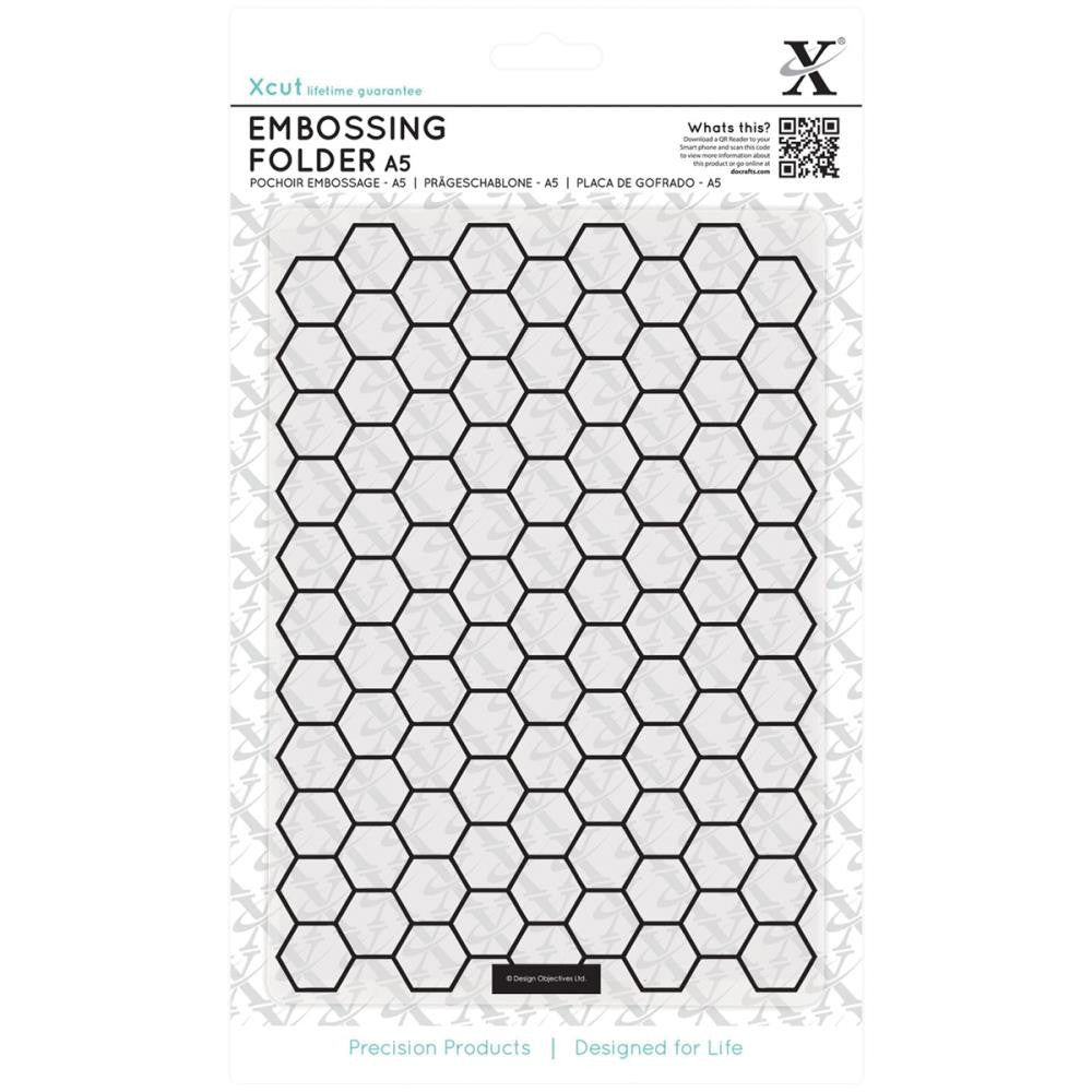 Xcut Universal A5 Embossing Folder - Honeycomb