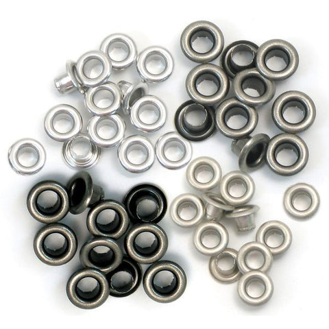 We R Memory Keepers Eyelets Standard - Cool Metal
