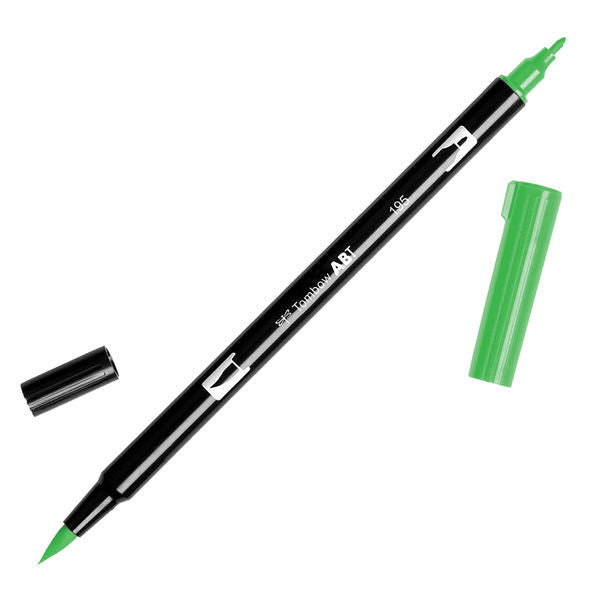 Tombow Dual Brush Pen - Light Green #195
