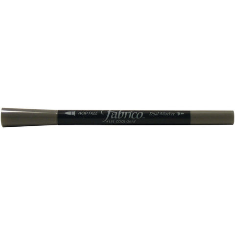 Tsukineko, Fabrico Dual-Tip Multi-Purpose Marker - Cool Gray