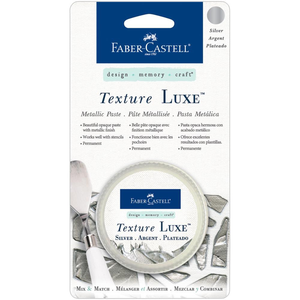 Faber-Castell Texture Luxe Metallic Paste 30ml - Silver