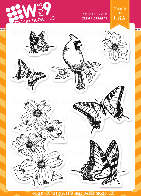 WPlus9 Design Studio - Flora & Fauna I Stamp Set