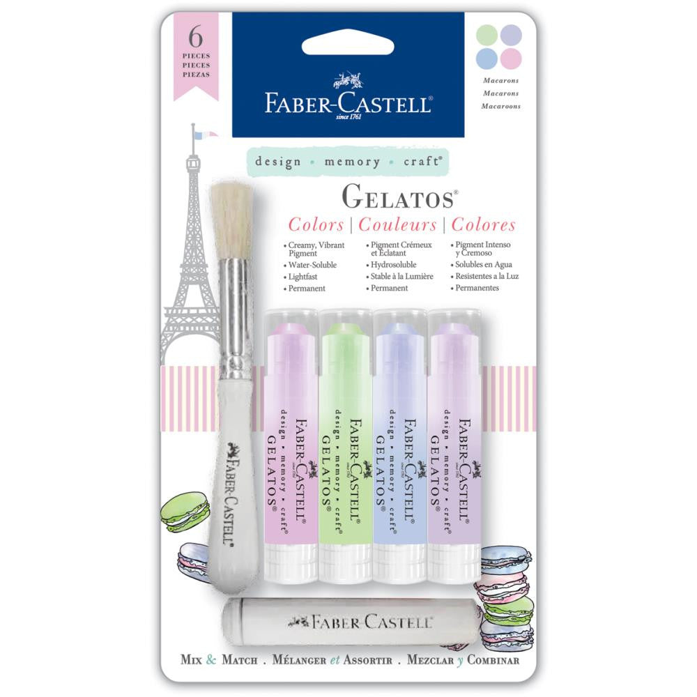Faber-Castell Mix & Match Gelatos Designer Series 4/Pkg - Macaroons