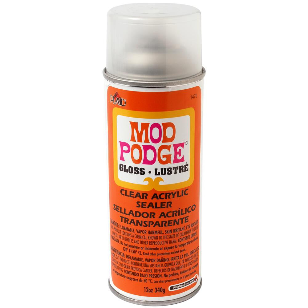 Mod Podge Clear Acrylic Aerosol Sealer 12oz - Gloss