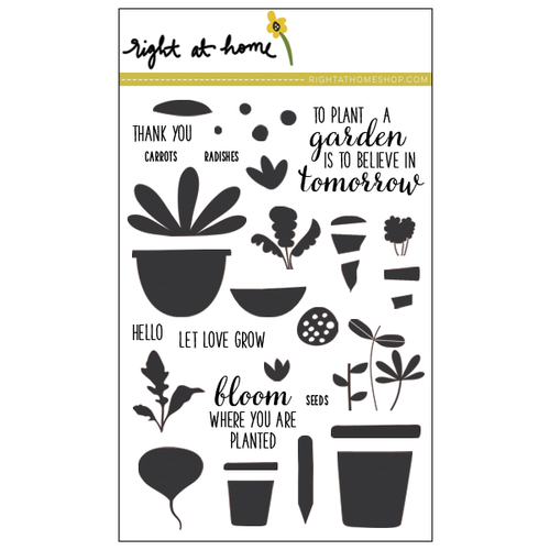 "Right at Home - 4"" x 6"" Stamp Set - Let Love Grow"