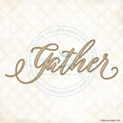 ***New Item*** Blue Fern Studios - Chipboard - Gather