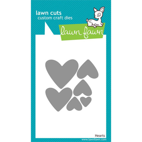 ***New Item*** Lawn Cuts Custom Craft Die - Hearts ( Lawn Fawn)
