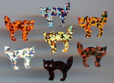 Cartwright Sequins and Beads Co. -  Sequins -  Gray Hologram Cats - approx 190/pcs