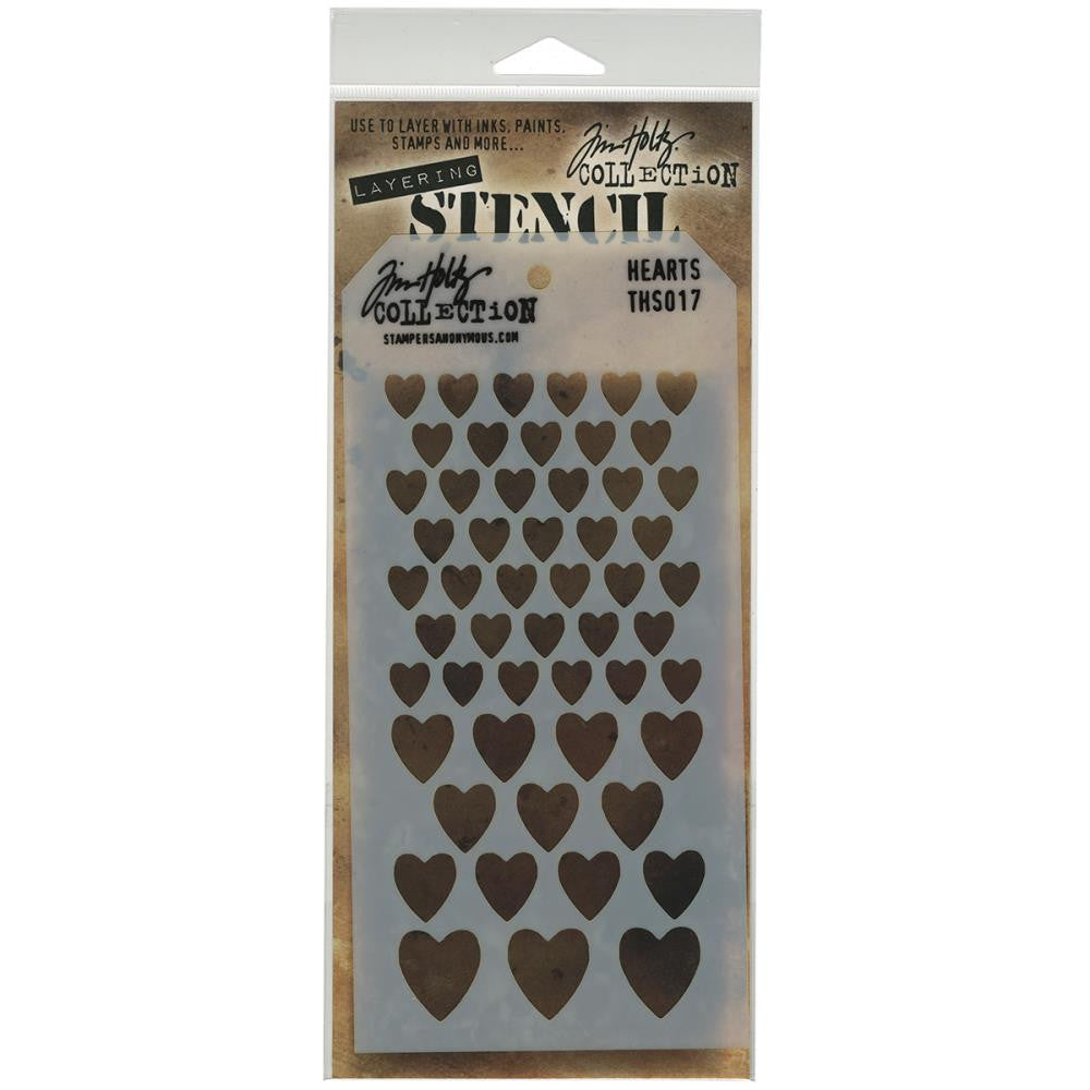 Stampers Anonymous - Tim Holtz - Layering Stencil - Hearts
