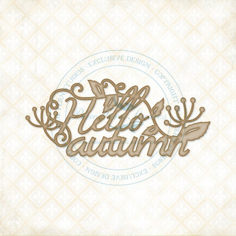 ***Pre-Order*** Blue Fern Studios - Chipboard - Hello Autumn