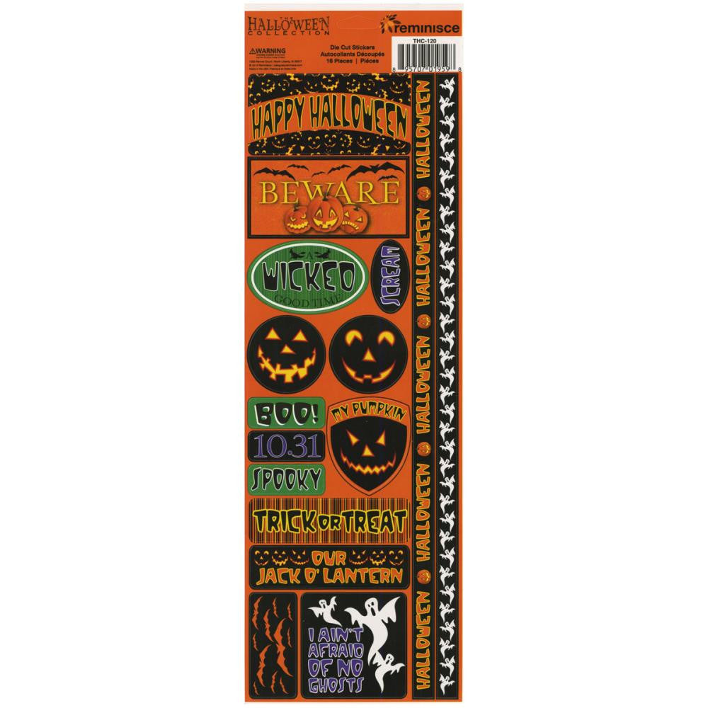 The Halloween Collection Cardstock Combo Stickers