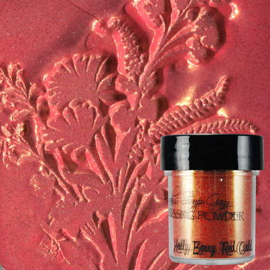 Lindy's Stamp Gang Embossing Powder - Holly Berry Red Gold