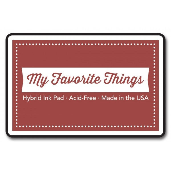 "My Favorite Things Hybrid Ink Pad 3"" x 2"" - Brick Red"