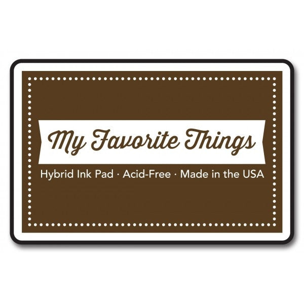 "My Favorite Things Hybrid Ink Pad 3"" x 2"" - Chocolate Brown"