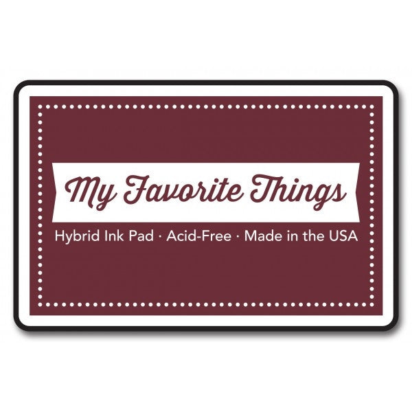 "My Favorite Things Hybrid Ink Pad 3"" x 2"" - Paver Red"