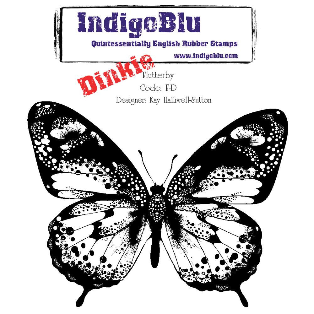 IndigoBlu - Cling Mounted Stamp - Dinkie - Flutterby