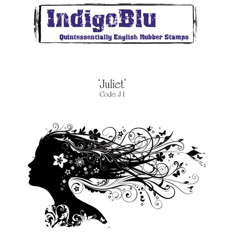 "IndigoBlu Cling Mounted Stamp 5""X3"" - Juliet"